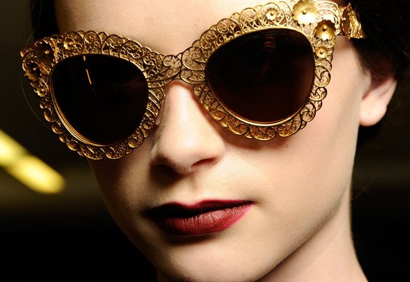 105ea37e8651 Dolce Gabbana Fall Winter 2014 Mosaic Collection Filigree Sunglasses ...